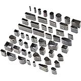 ATPWONZ Outils de Coupe Cuir 52Pcs Kit Poinçon à Main Découpeur DIY pour Téléphone Portable
