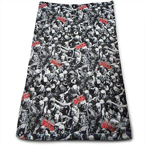 Kotdeqay Walking Dead Zombies Multipurpose Soft Highly Absorbent Cotton Hand Towels Quick Dry for Daily Use 30cm X 70cm