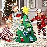 Aparty4u 3D DIY Feutré Arbre De Noël Toddler Amical Arbre De Noël Suspendus Ornements Enfants Cadeaux De Noël pour Les Décorations De Noël...