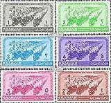Sharjah 74A-79A (kompl.Ausg.) 1964 Pfadfinderinnen (Briefmarken für Sammler)