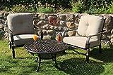 Made for us Alu Garten-Möbel, Möbel-Garnitur, wetterfestes Aluguss Lounge-Möbel Set, Sitzgruppe bestehend aus Garten-Sesseln und Couch-Tisch, das Original (2 Sessel + Couchtisch)