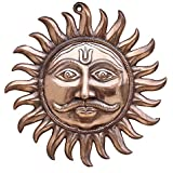 APKAMART Handcrafted Sun Wall Hanging In Metal - Wall Hanging And Religious Figurine For Home Decor And Gifts - 15 Inch