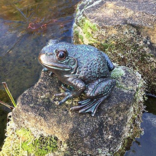Antikas - Skulptur Frosch Brunnendekoration - Teichfiguren Frösche Dekoration Gartenteich
