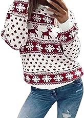 Forthery Women's Christmas Ugly Sweatshirts Casual Long Sleeve Zip Hoodies Sweatshirts