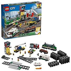 LEGOCityTrainsTrenoMerci,MotoreAlimentatoaBatteria,perBambinidai6AnniinPoi,ConnessioneBluetoothRC,3Carrozze,BinarieAccessori,60198 5702016109795 LEGO