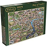 Jumbo Games Falcon de Luxe Map of London Jigsaw Puzzle...