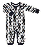katvig Baby Strampler Overall aus Bio-Baumwolle Apfeldruck Dunkelblau, Größe:62, Farbe:Dunkelblau
