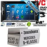 Mercedes B-Klasse W245 Audio 20 - Autoradio Radio JVC KW-V235DBTE - DVD | Bluetooth | DAB+ | CD | MP3 | USB | Android | iPhone | 2-Din - Einbauzubehör - Einbause