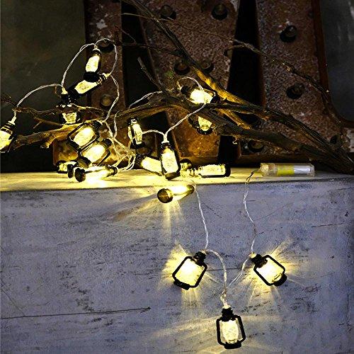 Lichterkette,FeiliandaJJ String Lights 220V 1/2M 10/20pc Kreativ Mini Laterne Weihnachtsbaum Hängende Verzierung LED Licht Innen/Außen Hochzeit Party Halloween Christmas Haus Deko (Schwarz, 1M(10pcs))