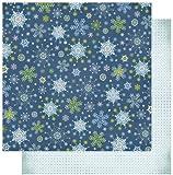 RAYHER - Scrapbooking-Papier: Winter Snowflakes, 30,5x30,5 cm, 190 g/m2, mit Glitter