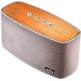 COMISO Altavoz Bluetooth Estéreo Premium 30W Con Radiador Pasivo, Bambú altavoz inalámbrico con Fuerte Bass Subwoofer para iPhone, iPad, Android Smartphones,Tablet, PC - Gris