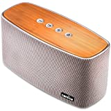 Best Home Bluetooth Speakers - COMISO 30W Bluetooth Speakers with Super Bass, Bamboo Review