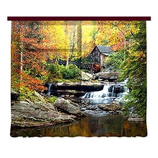 Gardine/Vorhang FCS 7402, Wasserfall, 280 x 245 cm, 2 teil