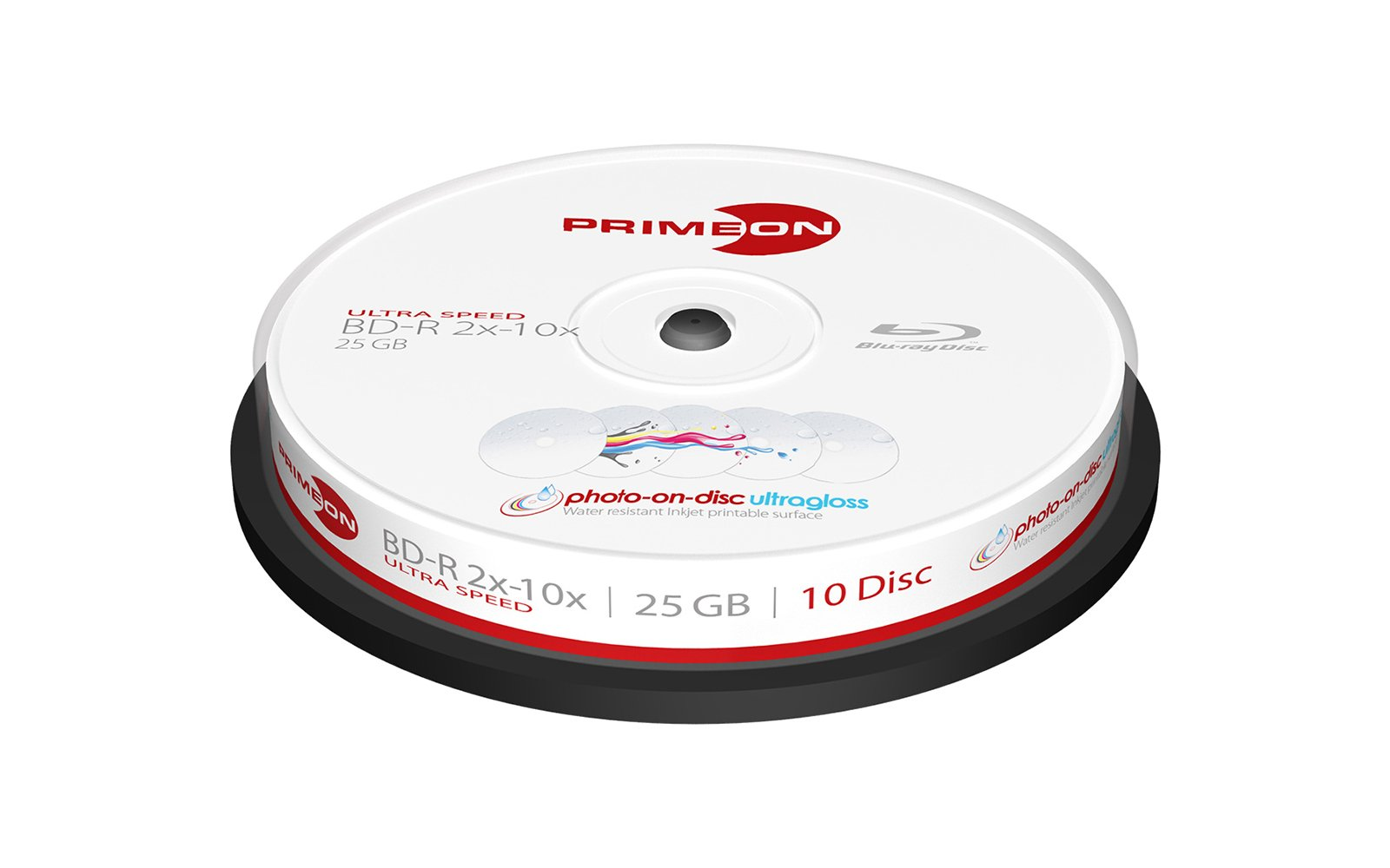 Primeon 2761316 Rohling Transparent Wei Amazon M Disc Blue Ray Bd R 25gb 4x 43823