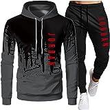 PKIMKM Jordan 23# Tuta da Uomo Set Felpa con Cappuccio Top Abbigliamento Sportivo Pantaloni da Jogging Tuta da Jogging da Pal