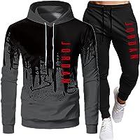 PKIMKM Jordan 23# Tuta da Uomo Set Felpa con Cappuccio Top Abbigliamento Sportivo Pantaloni da Jogging Tuta da Jogging…