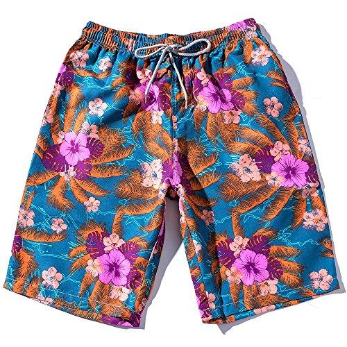 Preisvergleich Produktbild Amphia - Ethnische Strandhosen für Männer,  lose Shorts - Sommer Männer Paare Strand Floral Bohe Badeshorts Trunks Nickel Hosen Plus Größe