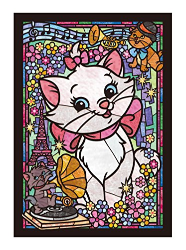 Stained Art Disney 266piece Marie stained glass DSG-266-752 tightly (Disney Puzzle Stained Glass)