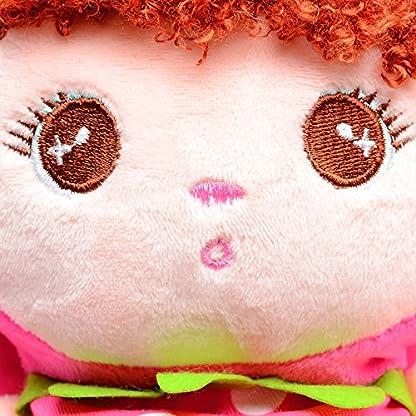 61jQVjtYj3L. SS416  - Moolecole Cartoon Cute Doll Mochila Toddler Girls Mochila de felpa mochila Sidekick mochila