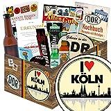I love Köln | Mann Geschenk | Geschenkbox | I love Köln | inkl Markenbuch | Männergeschenke | Geburtstagsüberraschung Köln | mit Zollstock Held der Arbeit, Bier, Schnaps und mehr