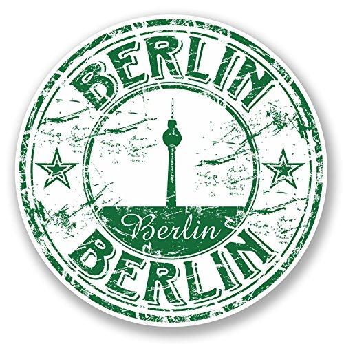 """2 x 10 cm, Berlin, Deutschland Vinyl-Gepäck-Anhänger """"Fun 5763 #Label"""