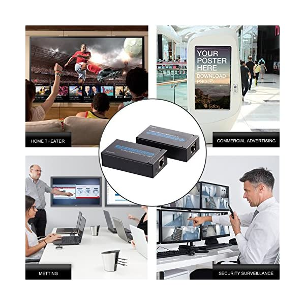 OCDAY-60-mtres-HDMI-Extender-Support-Full-HD-1080p-et-3D-EmetteurRcepteur-pour-TV-DVD-Blue-Ray-PS3-XBOX-HDMI-Extender-sur-Ethernet-Cat5e6-cble-Ethernet