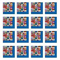 A Beistle Creation International Flag Luncheon Napkins (2-Ply)    (16/Pkg)
