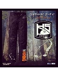 "Hotspot Design Pantalon Le pêcheur thermo ""Cat Fishing"", noir"