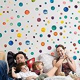 RUIPENGPENG Wall Sticker Aufkleber wasserdicht Abnehmbare für Wohnzimmer Kinder Baby Nursery 3d-emulation Schmetterling Kühlschrank Klimaanlage Kleiderschrank Nachttisch Gardinen Dekoration, die Farbe des Kreises.