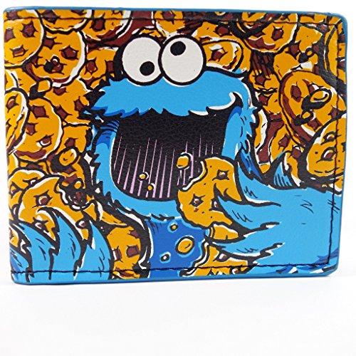 sesame-street-cookie-monster-sea-of-cookies-multicolore-portafoglio