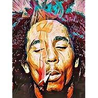 """Aluminium metal wall art """"Bob Marley"""""""