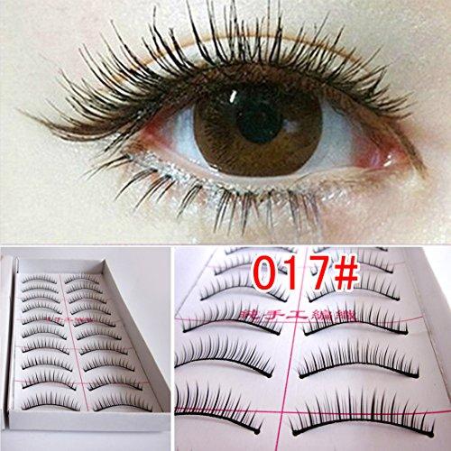 M-Queen 10 Paires de Faux Cils Curl Naturels Longues en Fibres Cosmetique Maquillage Yeux