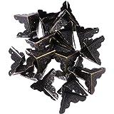LIOBO randbescherming randbescherming metalen vintage box hoekbescherming driehoek met 120 spijkers 30 stuks (zwart)