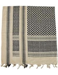 PLO Pali Tuch mit Fransen, Sand-schwarz, Größe ca. 115x110cm