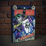 DC Comics Batman Luminart Touch an/aus Leuchte Kunstwerk, Leinwand, mehrfarbig