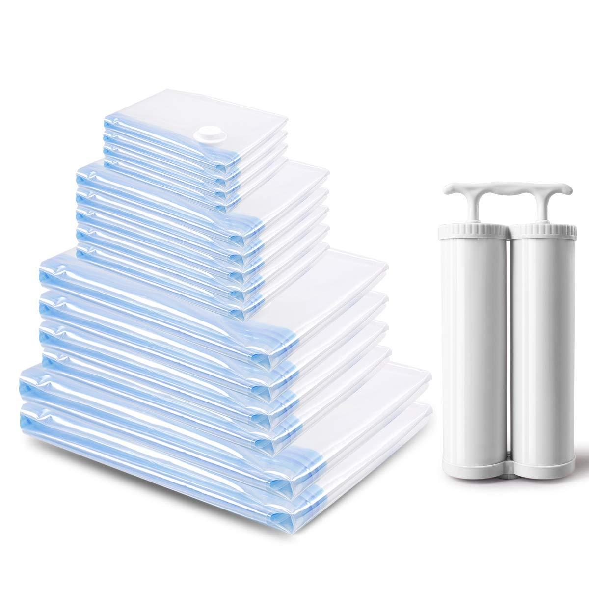 Bolsas de Almacenaje al Vacío – Paquete de 15 Unidades Bolsas para Guardar Ropa, Edredones, Ropa de Cama, Almohadas, Mantas, Cortinas
