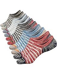 Anliceform Calcetines tobilleros premium de algodón, estilo casual, antideslizantes para hombre.