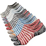 Anliceform Calcetines tobilleros premium de algodón, estilo casual, antideslizantes para hombre. (5 Pares)