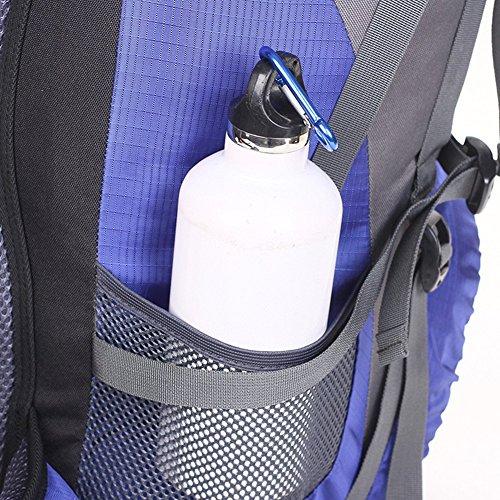50L Trekkingrucksack Outdoor Wanderrucksack Reiserucksack Rucksack Mit Regenabdeckung Für Wandern, Bergsteigen, Reisen Sport und Camping Blue