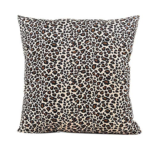 FAFANIQ Fashion Decorative Pillow Case,Cotton Square Leopard Print Decorative Throw Pillow Case Bed Home Decor Car Sofa Waist Cushion Cover (C) -