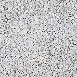 Steinteppich Marmorkies Bodenbeschichtung W730 Bianco Carrara Weiß - 2qm
