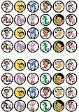 48 Dora The Explorer, Essbare PREMIUM Dicke GEZUCKERTE Vanille, Reispapier Mini Cupcake Toppers, Cake Pops, Cookies für Wafer