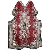 Boho Chic Designs Ladies Kaftan Dress Elizabeth Maxi Dashiki Printed Kimono Caftan Beach Cover up One Size