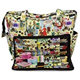 Knitting Shoulder Bag, Sewing Accessories and Craft Needle Storage Organiser Case In Retro by Roo Beauty