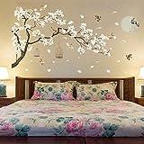 Tamaño Grande Árbol Pegatinas De Pared Pájaros Flor Decoración Para El Hogar Fondos De Pantalla Para Sala De Estar Dormitorio