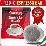 150 Dosettes Italcaffè Espresso Bar, Compatible ESE - 15% DE REMISE !