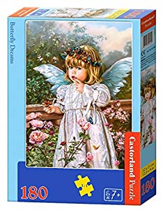 CASTORLAND Butterfly Dreams 180 pcs Puzzle - Rompecabezas (Puzzle Rompecabezas, Niños, Niños, Niño/niña, 7 año(s), Interior)