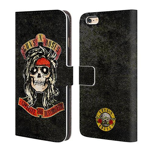 Ufficiale Guns N Roses Sweet Child O Mine Vintage Cover a portafoglio in pelle per Apple iPhone 6 Plus / 6s Plus McKagan