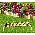 Steckzaun 100 cm Zaunhöhe 20 cm aus Holz für Beeteinfassung Rasenkante von Gartenpirat® von Gartenpirat - Du und dein Garten