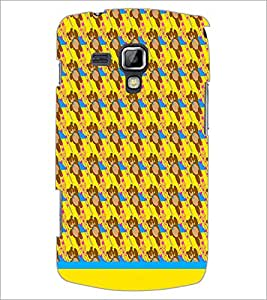 PrintDhaba Teddy Pattern D-1541 Back Case Cover for SAMSUNG GALAXY S DUOS 2 S7582 (Multi-Coloured)